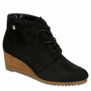 Dr. Scholls 11M Conquer Suede Lace Up Wedge Bootie